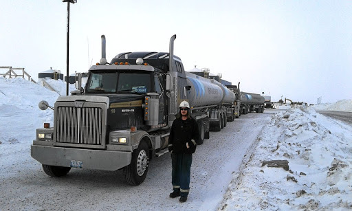 The loneliness of Canada mine's long-distance ice-road truckers