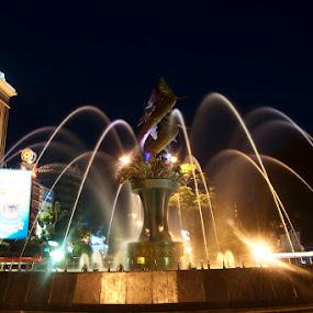 Tugu Ikan Selais by R Siswanty - City,  Street & Park  Fountains