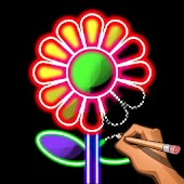 Learn To Draw Glow Flowers - Draw & Color Book Android APK Download Free By Coloring By Number - Pixel Art Games : Next Tech
