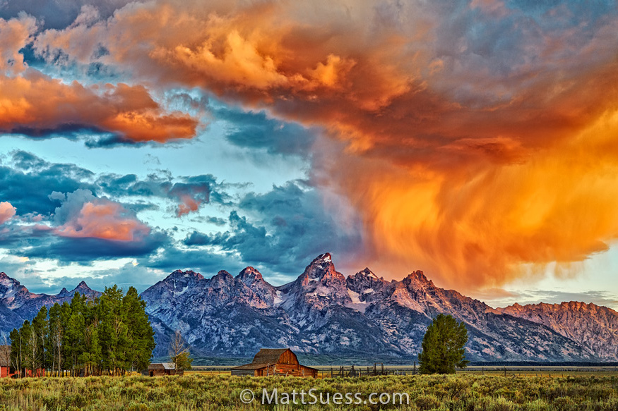 Moulders Barn Grand Teton National Park Sunrise