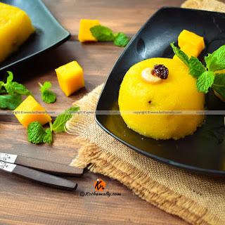 Mango Kesari, Mango Semolina Pudding, Mango Sheera