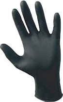 SAS Raven Powder Free Nitrile Gloves - 6 mil, Black