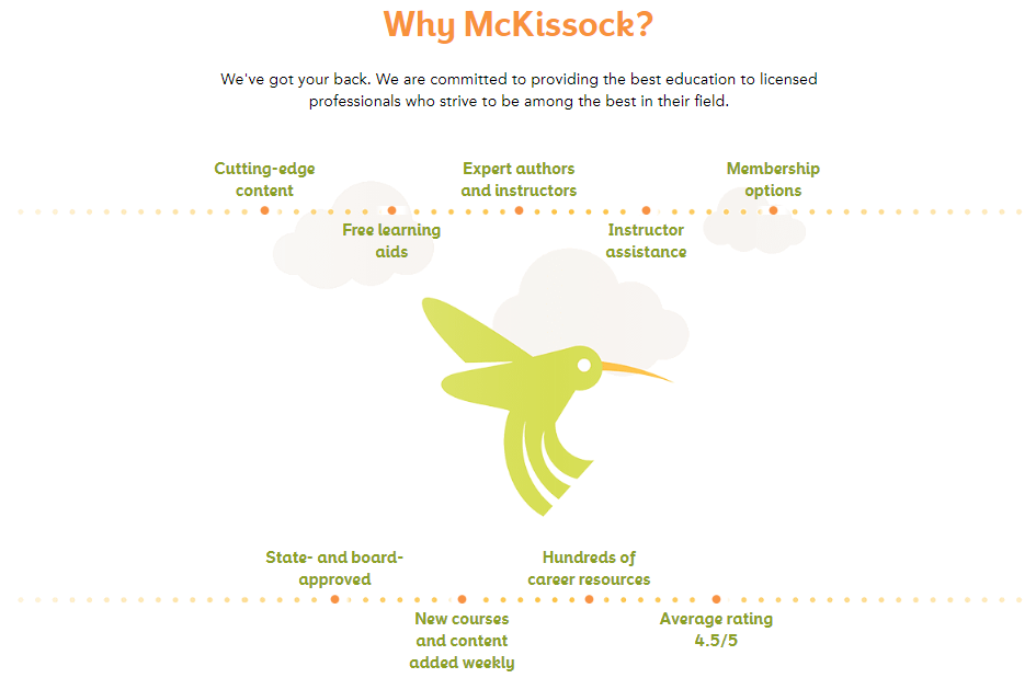 McKissock Learning features featuring reasons why you'd want to take their courses
