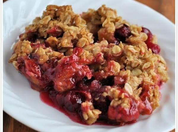 Apple Cranberry Ginger Crisp