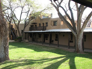 Photo: Sagebrush Inn was our home in Taos.  It was built in stages, the oldest adobes are a century old.