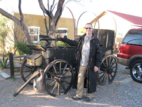 Photo: David in the artist colony town of Tubac.