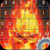 Keyboard Theme Fire Skull