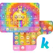 Tie Dye Themefor Kika Keyboard