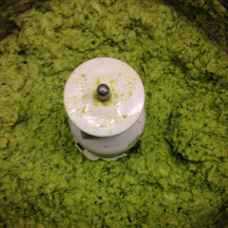Broad bean and Spinach dip.