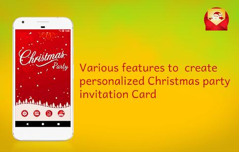 Christmas party invitations card maker android apps on google play christmas party invitations card maker screenshot thumbnail stopboris Gallery
