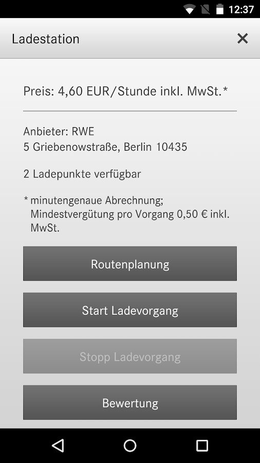 Charge&Pay for Mercedes Benz- screenshot