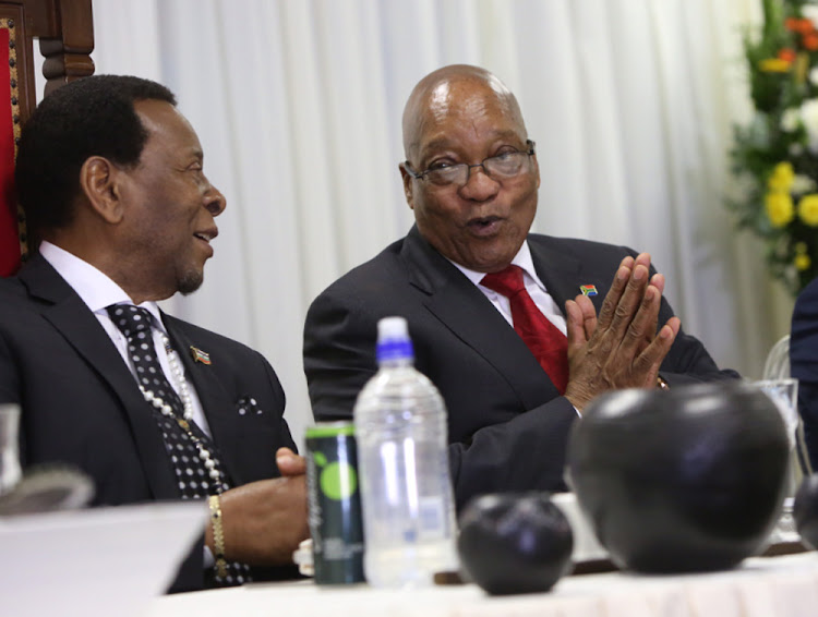 King Goodwill Zwelithini and former president Jacob Zuma