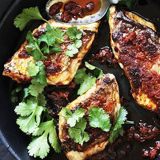 Pan-fried Snapper Marinated In Harissa.