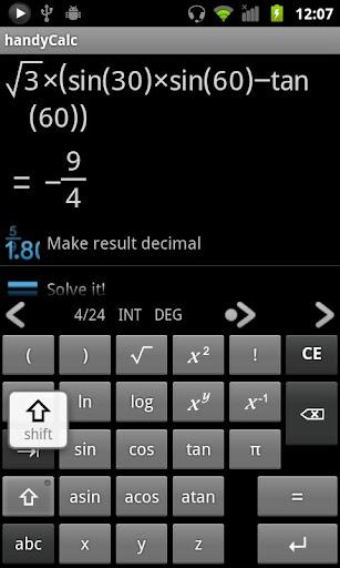 handyCalc screenshot 5