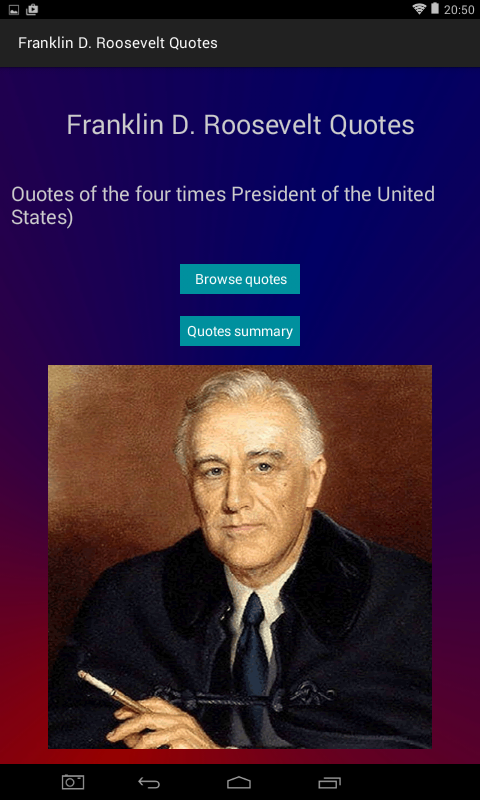 Franklin D Roosevelt Quotes Enchanting Franklin Droosevelt Quotes  Android Apps On Google Play