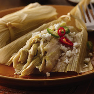 Chicken Tamales with Tomatillo Salsa