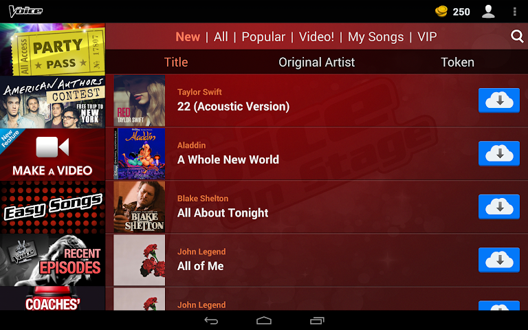 android The Voice: On Stage Screenshot 1
