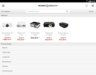 Beamer-Discount.de- screenshot thumbnail
