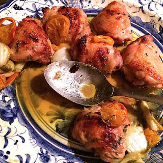 Roasted Chicken with Clementines & Arak