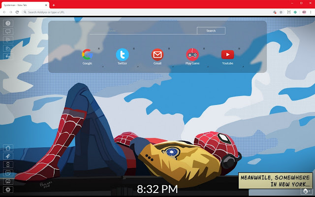 Spiderman Custom New Tab