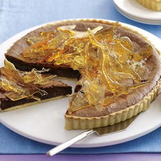 Fudgy Chocolate and Toffee Tart.