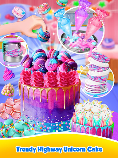 Unicorn Food - Sweet Rainbow Cake Desserts Bakery 2.7 screenshots 3