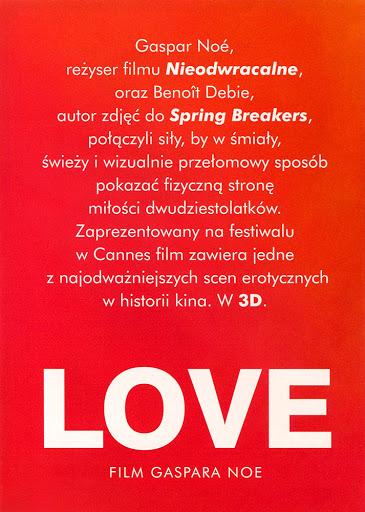 Tył ulotki filmu 'Love'