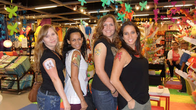 Photo: Casa Ideas. Ladies enjoying their Tattoos and Face Painting during the month of June at Sunset Place in Miami http://www.BestPartyPlanner.net