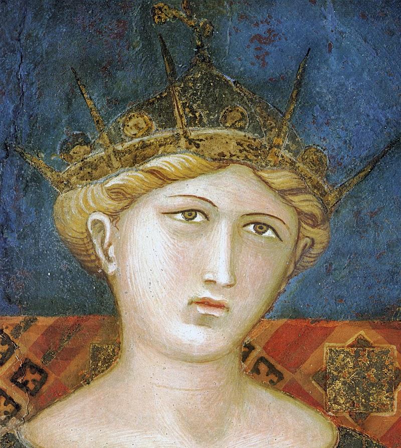 Ambrogio Lorenzetti, Effetti del Buon Governo, (dettaglio la Fortezza), Sala della Pace, Palazzo Pubblico, Siena