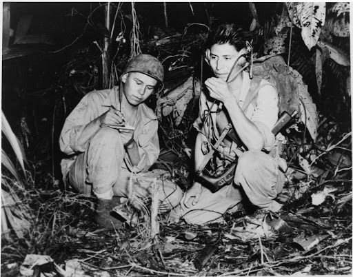 Corporal Henry Bahe Jr. and Private First Class George H. Kirk, Bougainville, December 1943