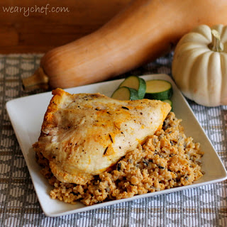 Baked Chicken with Pumpkin Rice