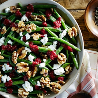 Haricots Verts With Walnuts, Goat Cheese, And Cranberry Vinaigrette