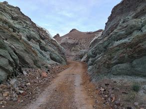 Photo: Road up a slot canyon, Mojave Desert