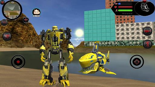 Wild Robot Shark Attack - Transforming Shark Robot 1.0 screenshots 7