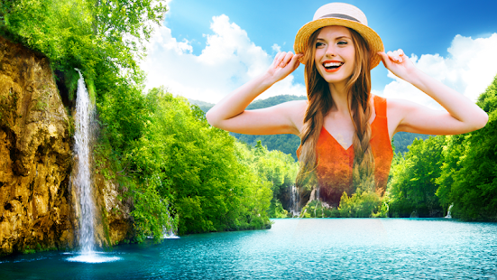 Waterfall Blend : Photo frame editor to mix images APK