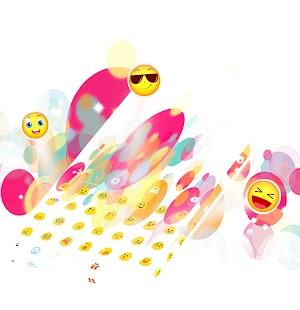 Klávesnice Color Bubble Theme - náhled