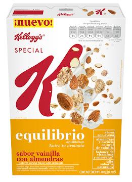 Cereal Kellogss Special   K Vainilla con Almendras X400G.