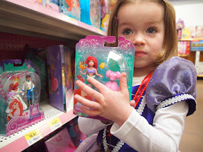 Photo: Darah can find an Ariel ANYWHERE (she found one in a convenience store once, true story). She grabbed this set to show us. She happens to already own it!
