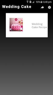 Wedding Cake Recipe - náhled