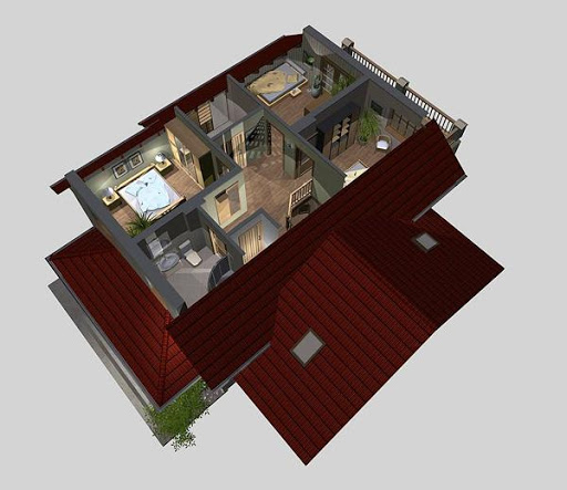 APS 075 - Rzut poddasza 3D