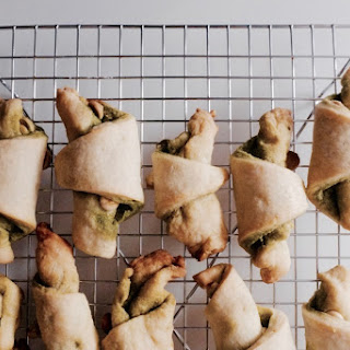 White Chocolate Matcha Rugelach