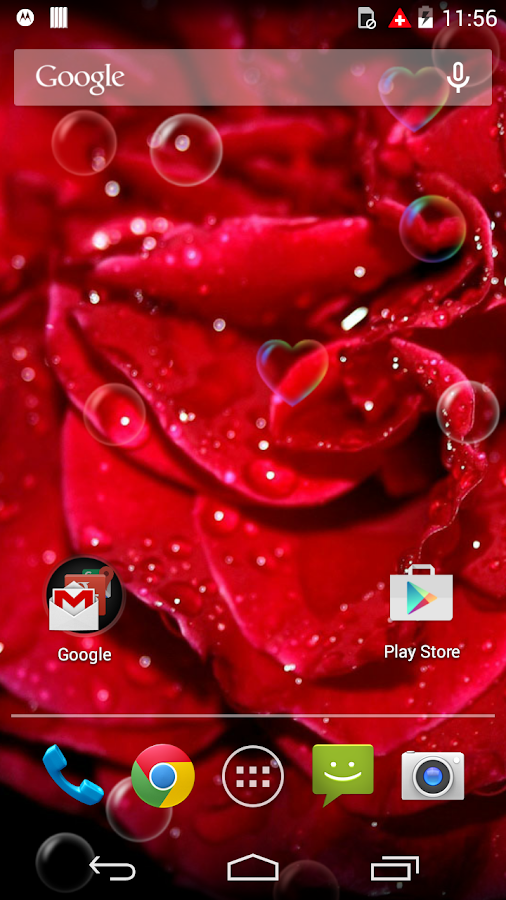 red rose love flower free lwp  android apps on google play, Natural flower