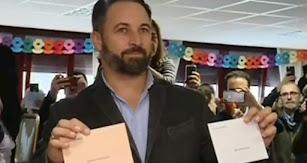 Santiago Abascal acude a las urnas. CAPTURA