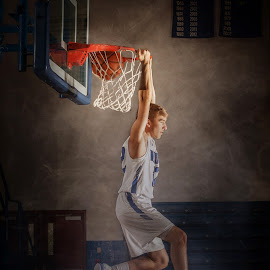 Dunk by Tiffiny Dillow - Sports & Fitness Basketball ( senior, basketball, senior portrait, graduate, jump )