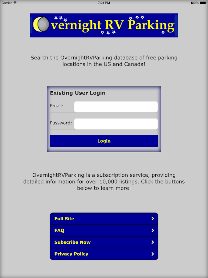 OvernightRVParking- screenshot