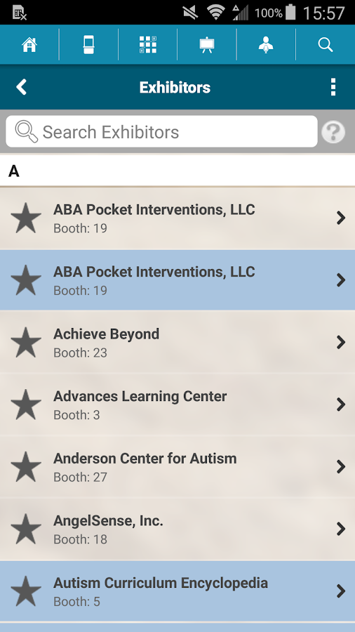 ABAI 11th Autism Conference- screenshot