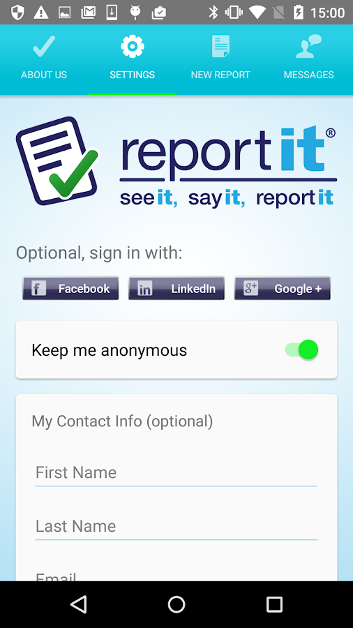 ReportIt- screenshot