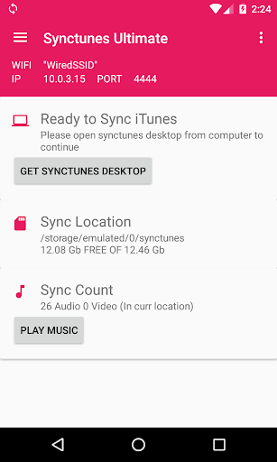 Sync iTunes to android Free screenshots 1