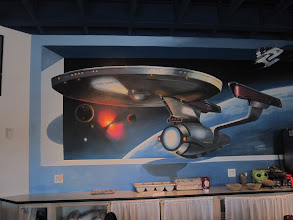 Photo: Enterprise mural, my kinda people. Can I have a job application?