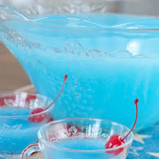 Blue Piña Colada Party Punch.